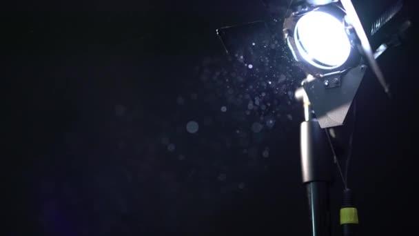 Photo equipment. View of dust in spotlight