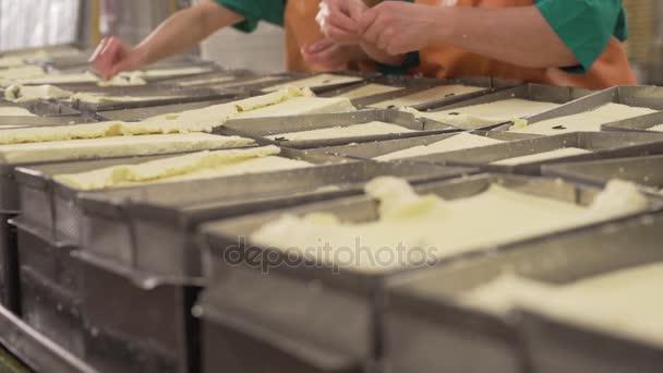 Hotových čerstvých mléčných výrobků na výrobní lince