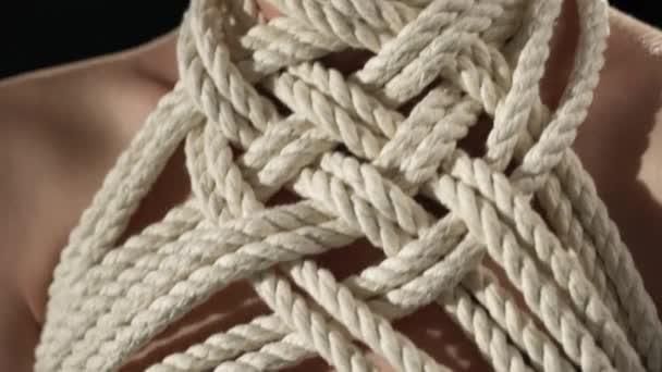 Shibari Seil Muster Hals Frau video