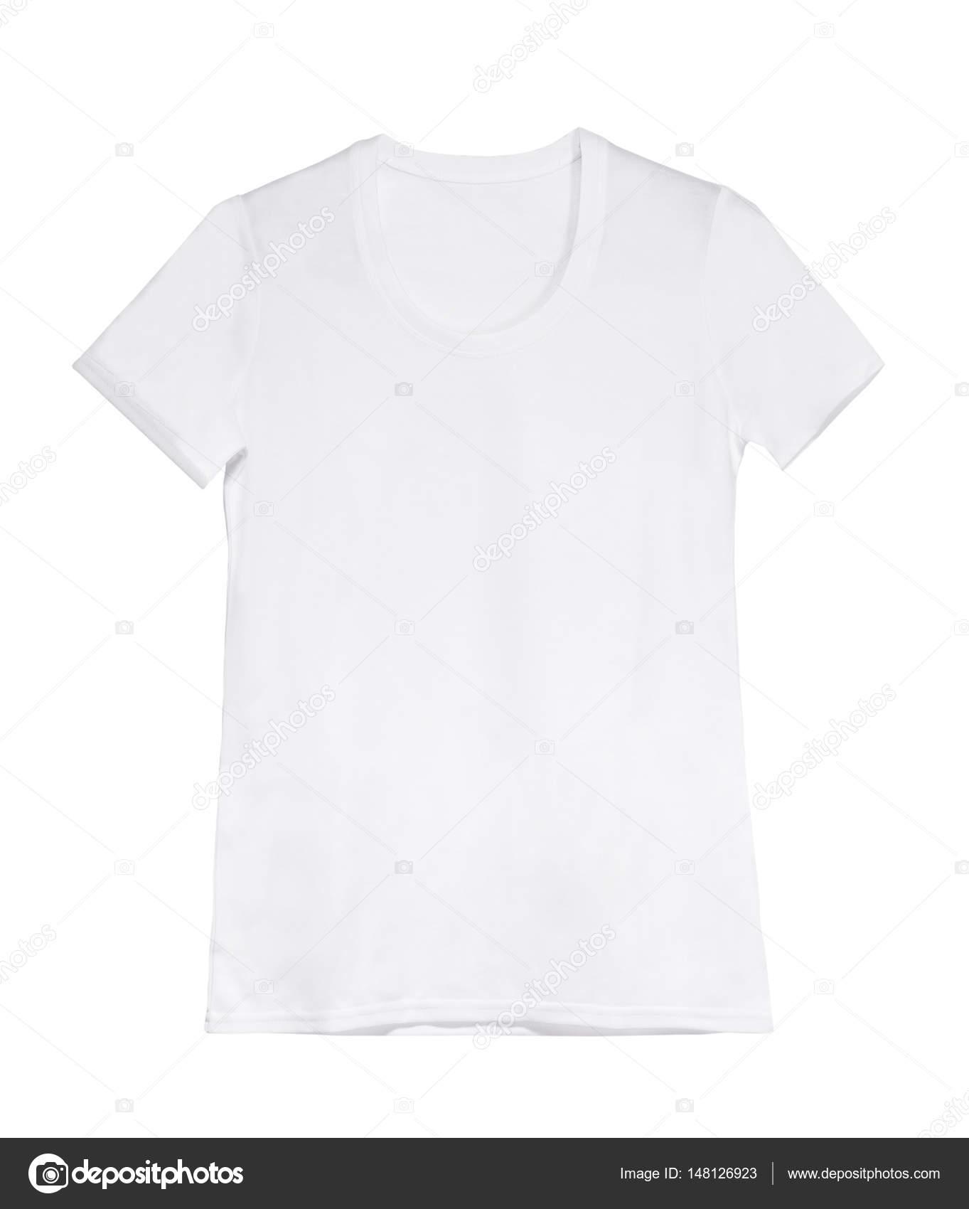 weiße Frau T-shirt auf Kleiderbügel — Stockfoto © GekaSkr #148126923
