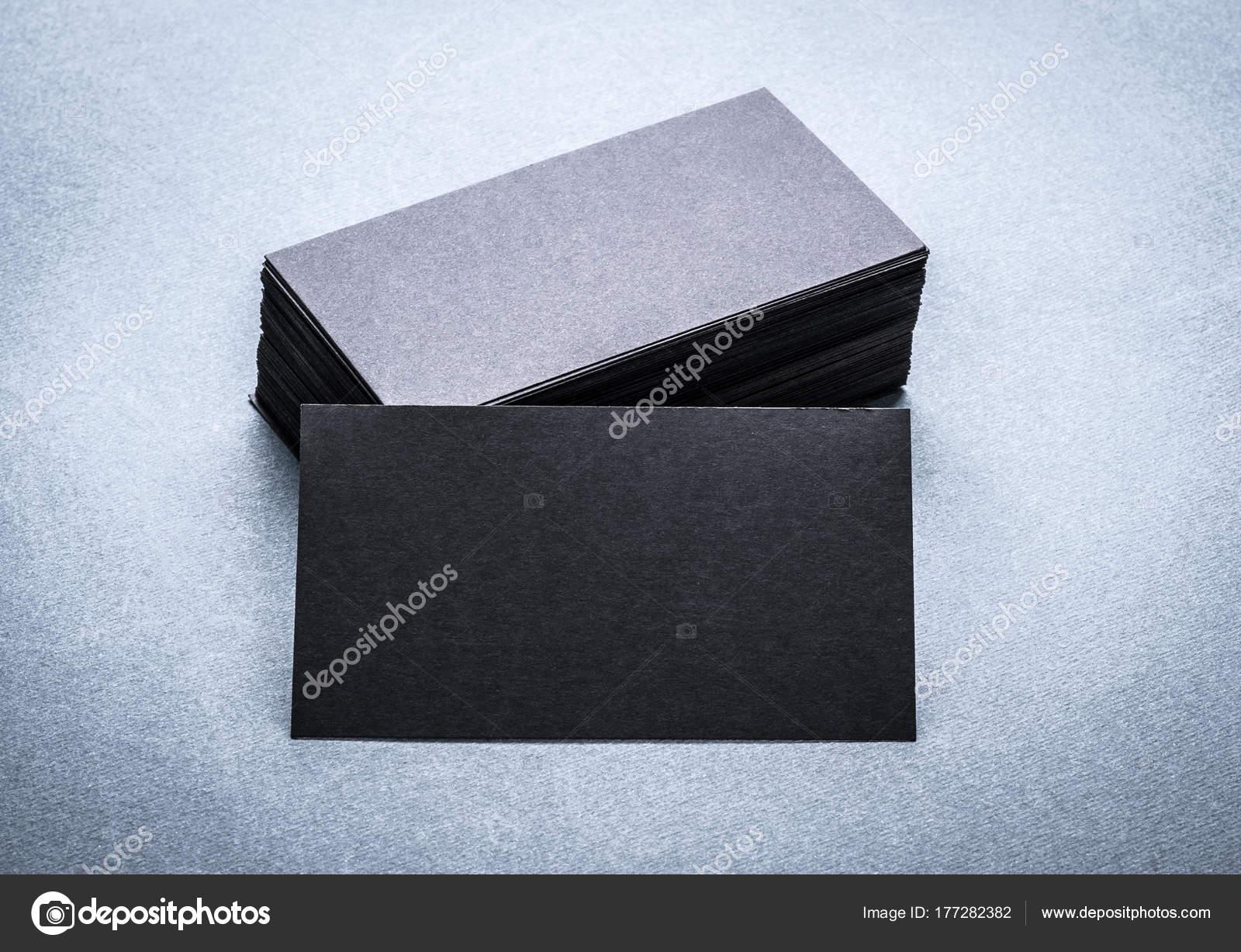 Schwarzes Papier Visitenkarten Vorlage Stockfoto Gekaskr