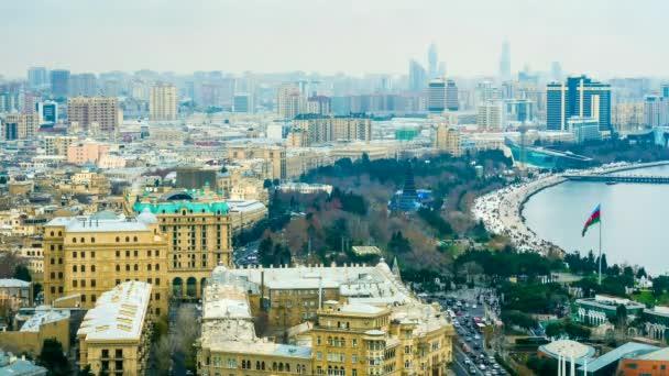 Zeitraffer des Stadtverkehrs in Baku