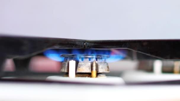 Zblízka na plynná z kuchyň plynový sporák