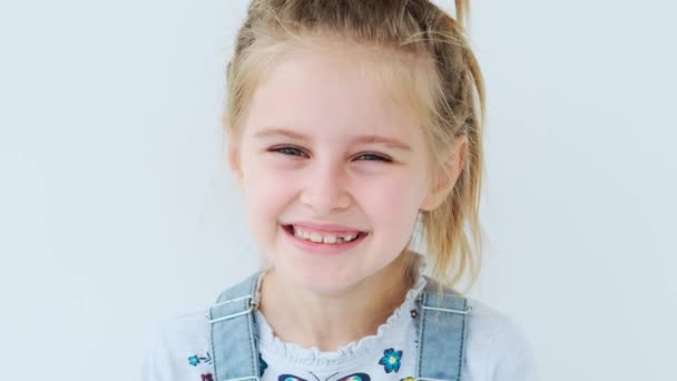 Cute little girl is laughing