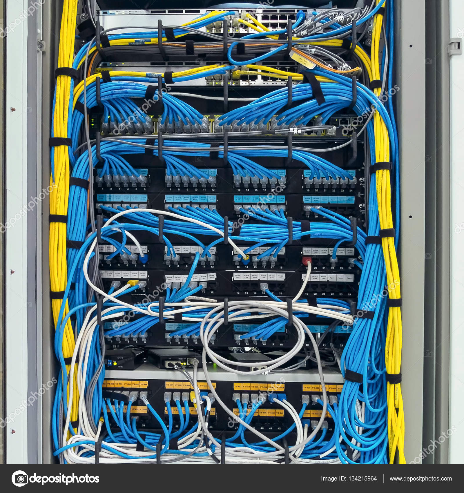 LAN cable use server of factory — Stock Photo © chok02@hotmail.com ...