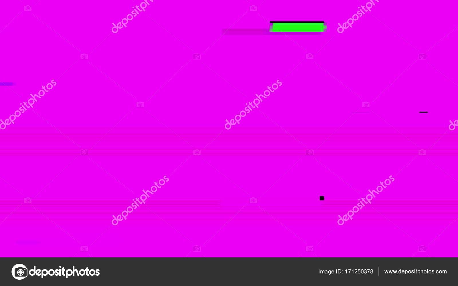Glitch TV Screen  Purple Background — Stock Photo © mputsylo #171250378