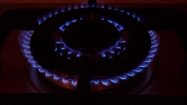 Plamen v hořáku