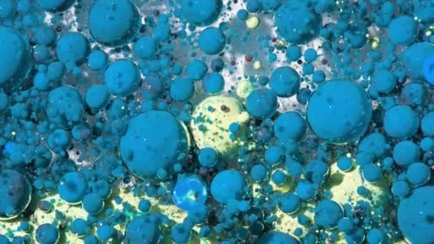 Světlé Collors bubliny Zpomalený pohyb ropy inkoustu