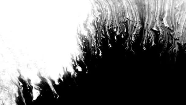 Black Ink Drop Design on White Background
