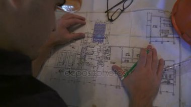 Architect or designer in the process of work.
