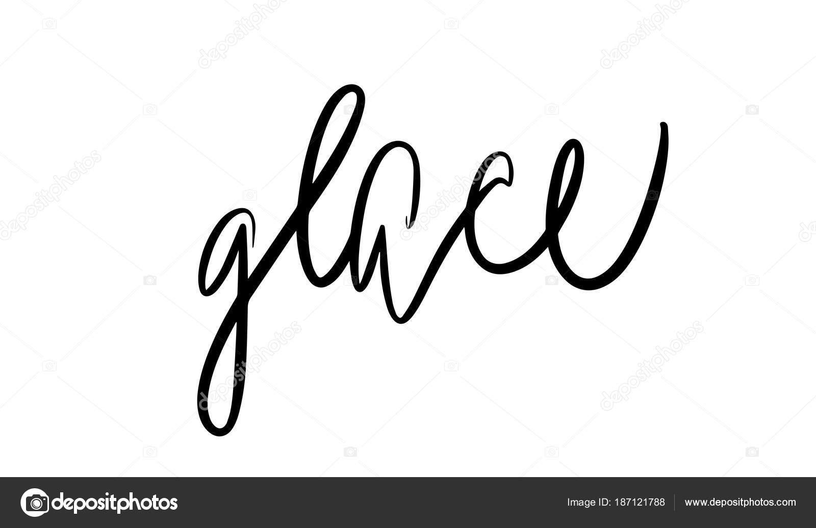 Glace lettering. Vector illustration of handwritten
