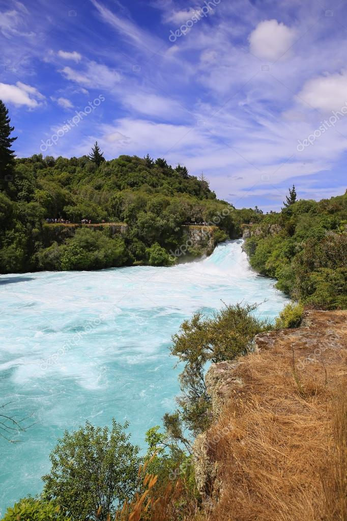 Huka Falls on the Waikato River, New Zealand.