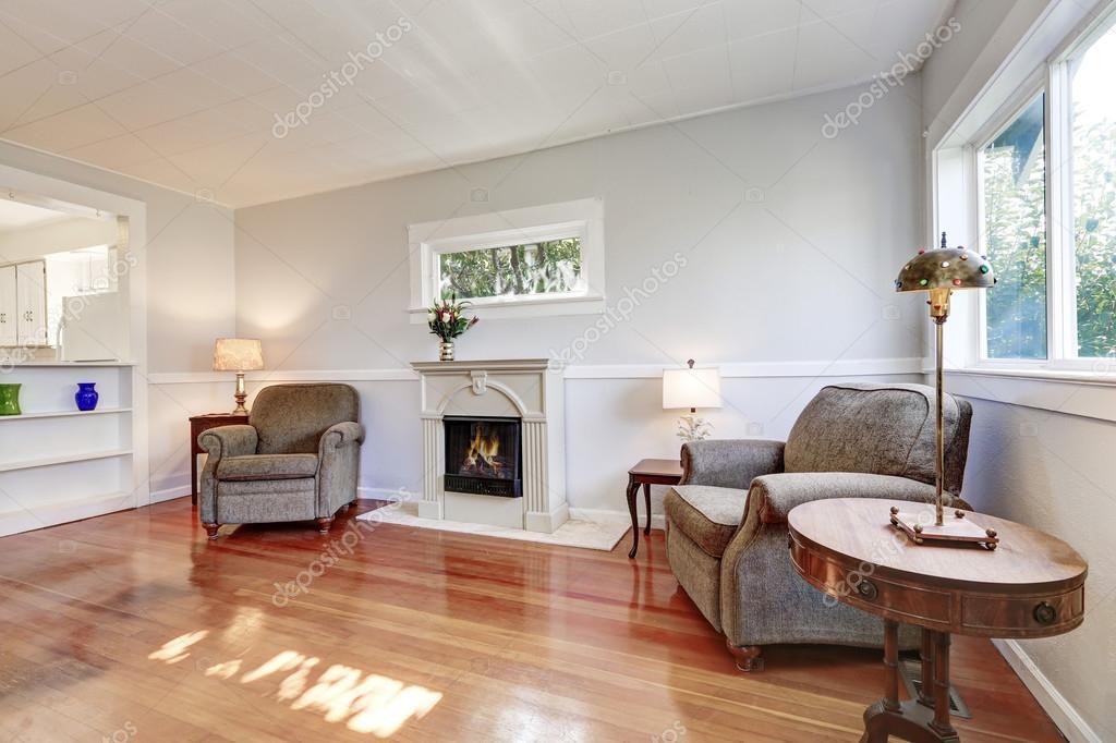 Woonkamer Inrichting Details : Amerikaanse woonkamer interieur met retro details u stockfoto