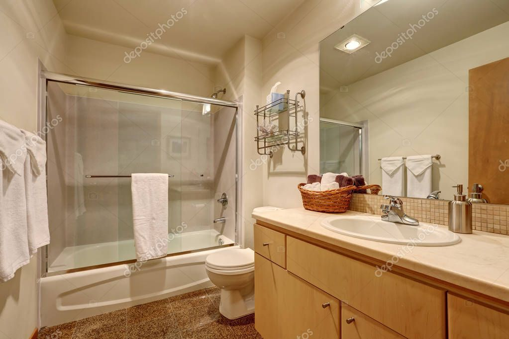 Traditional Bathroom Interior In American House Stock Photo
