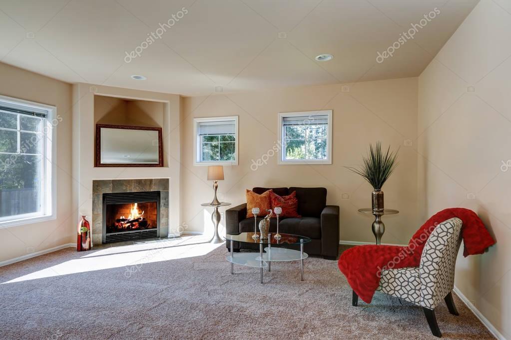 Typische Amerikanische Wohnzimmer Interior Design Stockfoto
