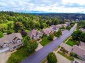 Aireal view, Amerikai külvárosi lakó házak
