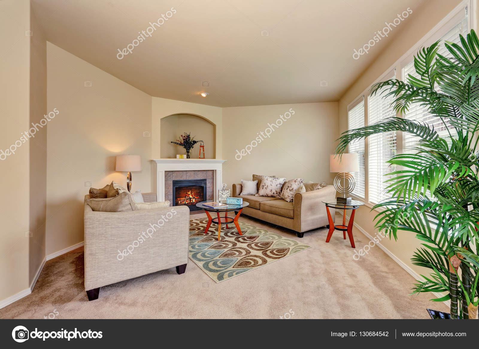 design d int rieur cosy salon beige photographie iriana88w 130684542. Black Bedroom Furniture Sets. Home Design Ideas