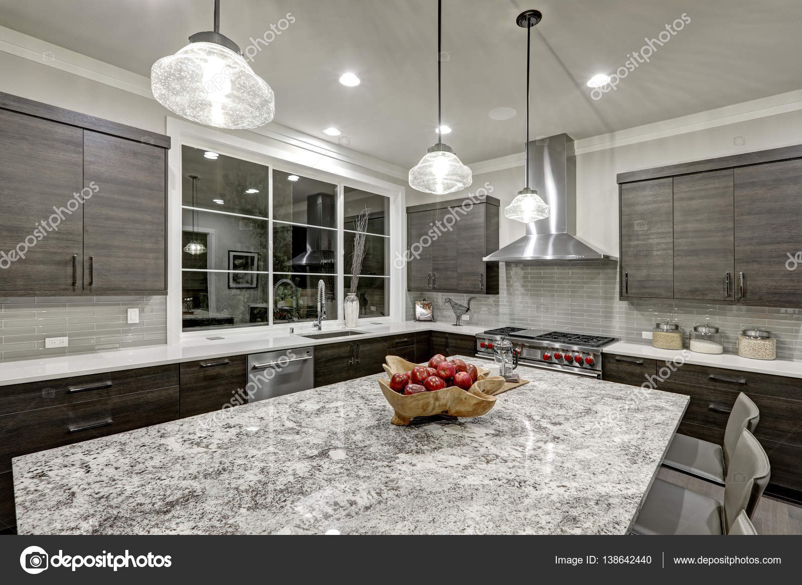 Modern Traditional Kitchen Design In New Luxury Home U2014 Stock Photo