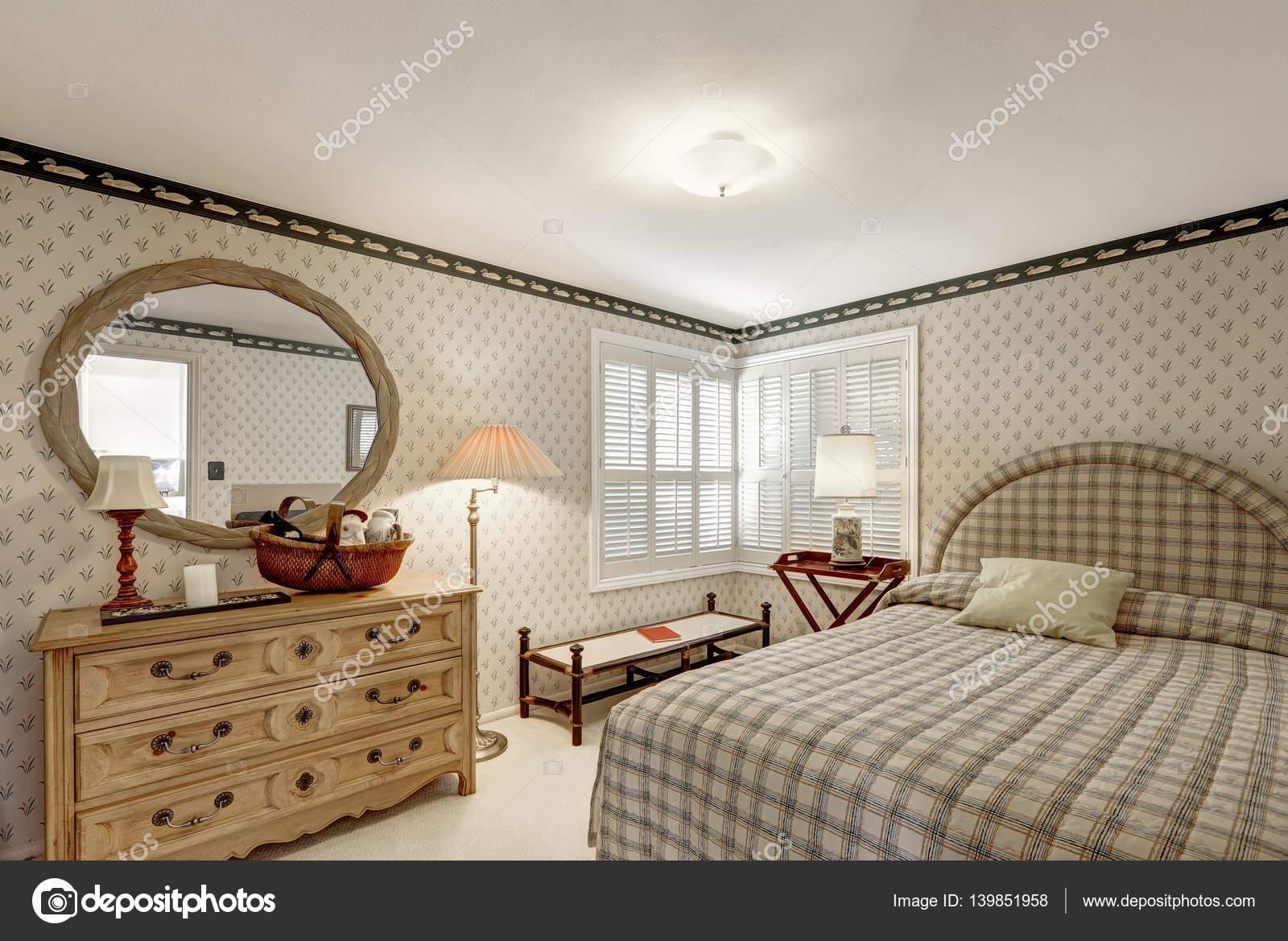 Gezellige slaapkamer ontwerp in grijstinten functies beige gras ...