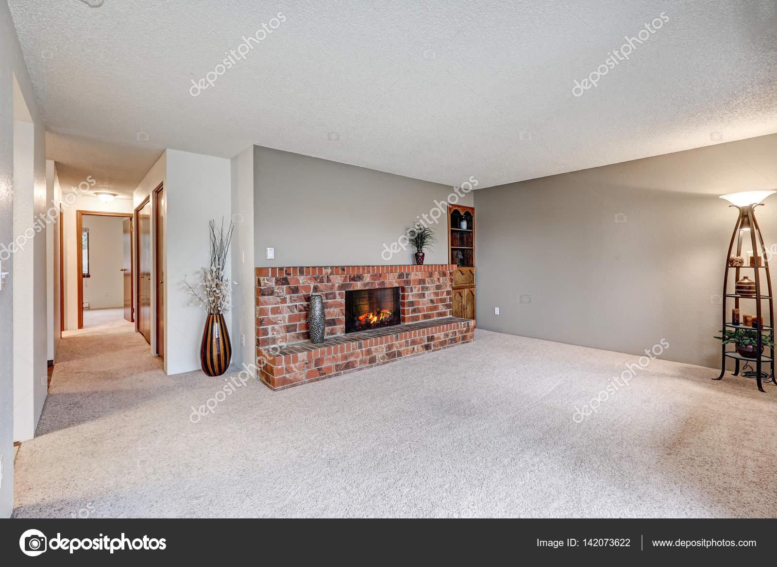 Lege woonkamer functies grijze muren — Stockfoto © iriana88w #142073622
