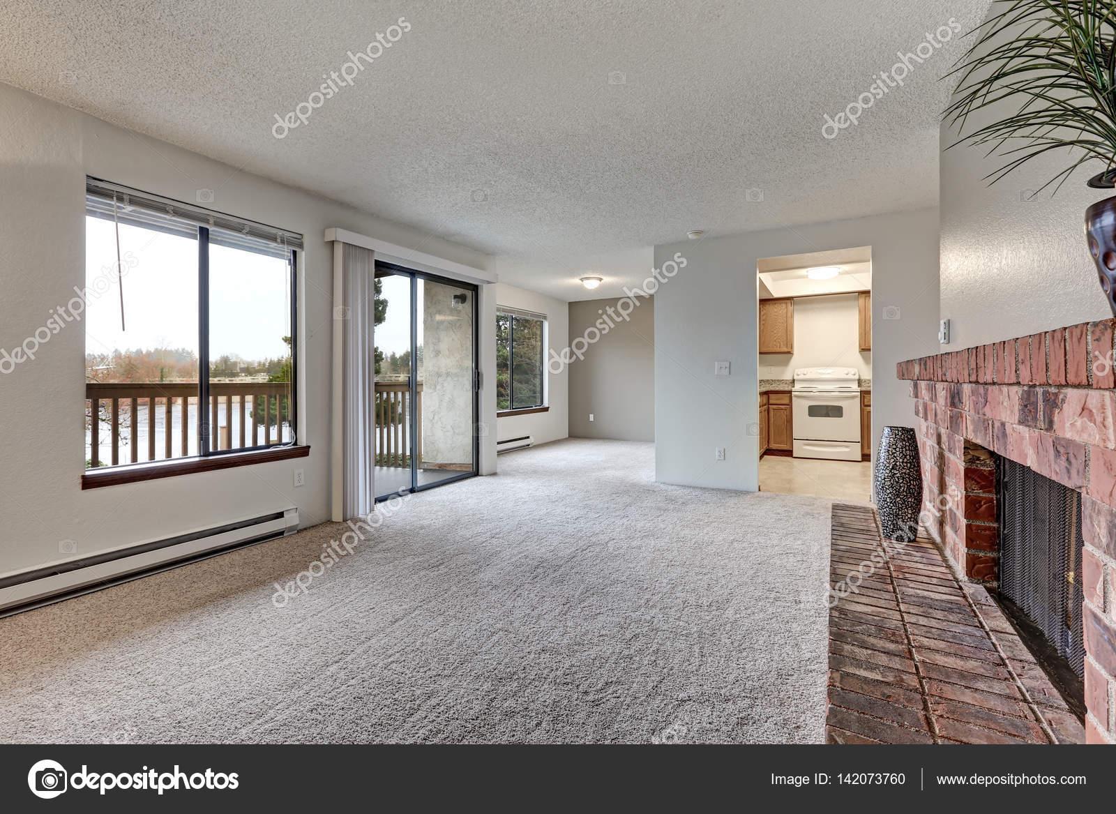 Lege woonkamer functies grijze muren — Stockfoto © iriana88w #142073760