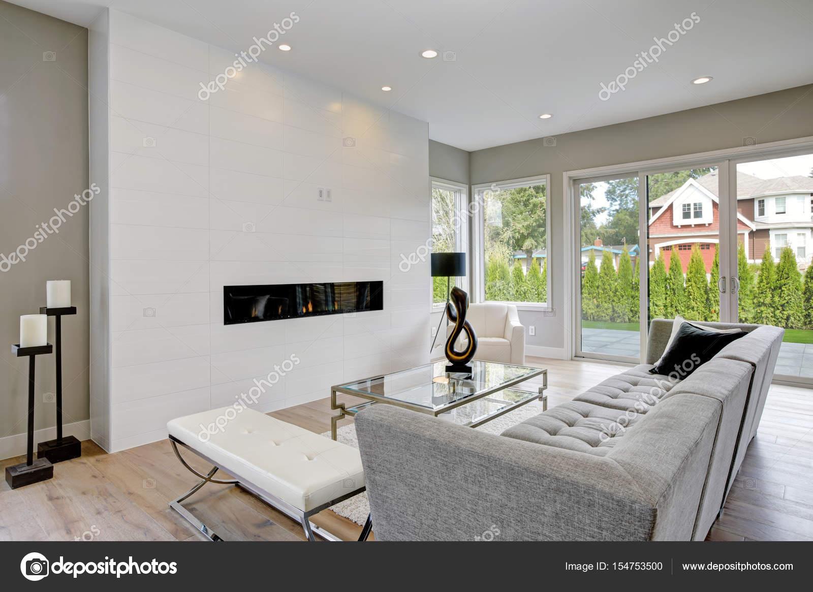 GroB Wohnzimmer Im Modernen Stil U2014 Stockfoto
