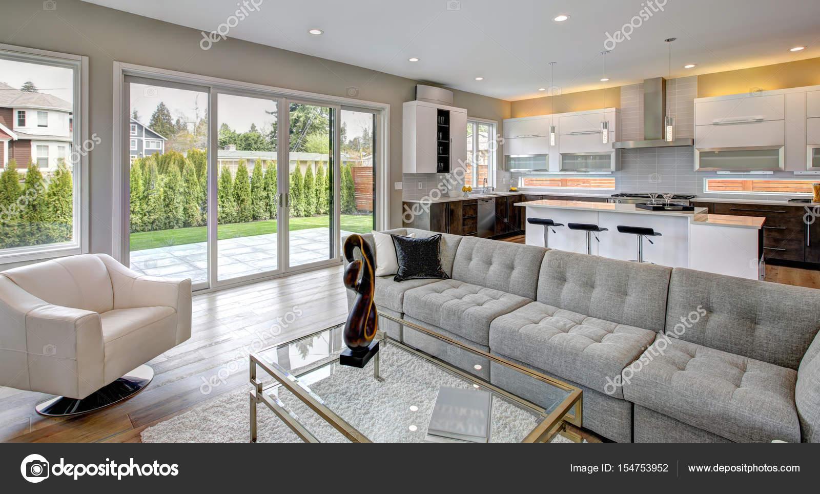 Fesselnd Wohnzimmer Im Modernen Stil U2014 Stockfoto