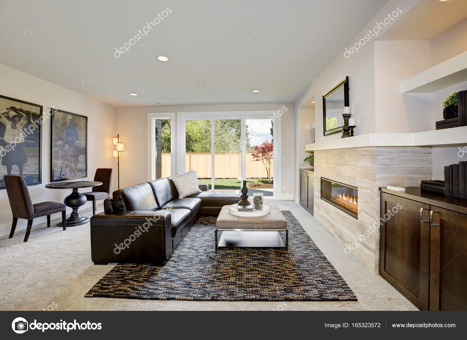Remarkable Family Room Design With Wet Bar Nook Stock Photo Download Free Architecture Designs Scobabritishbridgeorg