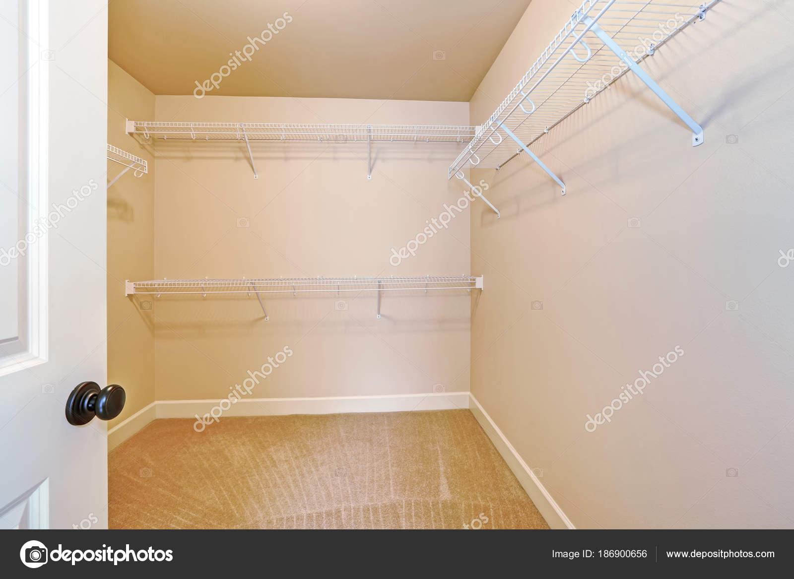 empty walk in closet. Empty Walk In Closet With Shelves And Carpet Floor. \u2014 Stock Photo Empty T
