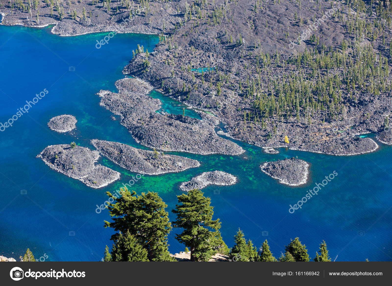 wizard island crater lake details stock photo tamifreed