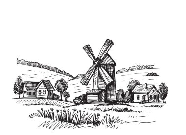 Hand drawn mill