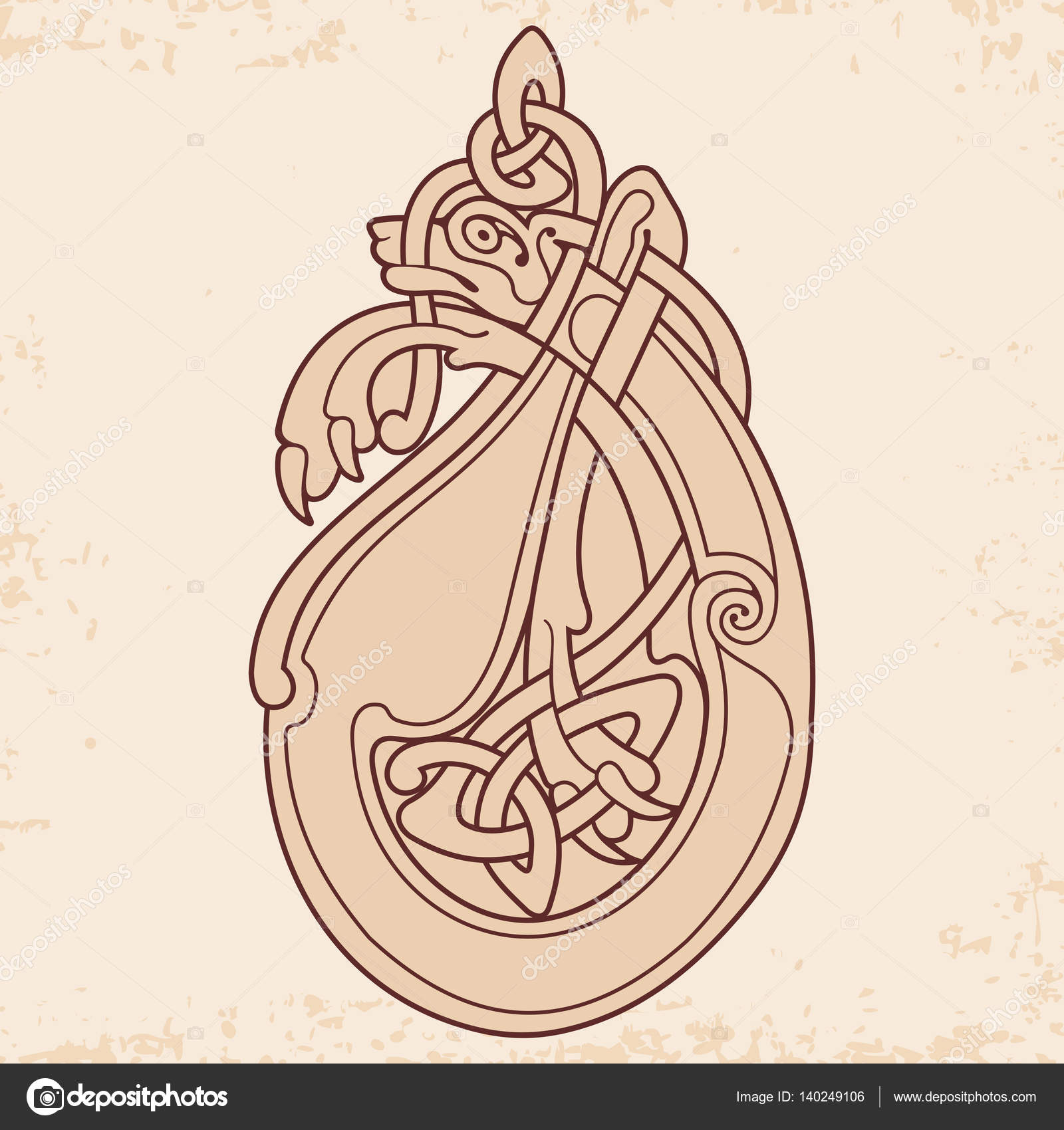 Celtic National Drawing Stock Vector Migfoto 140249106