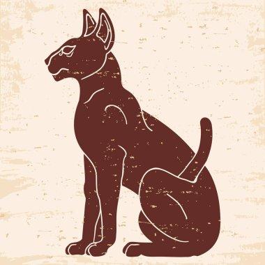 Egyptian Sphynx cat.
