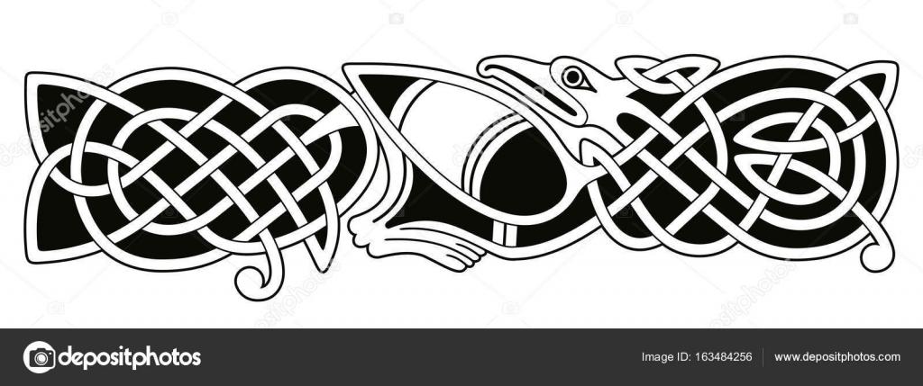 Dessin Celtique dessin national celtique — image vectorielle migfoto © #163484256