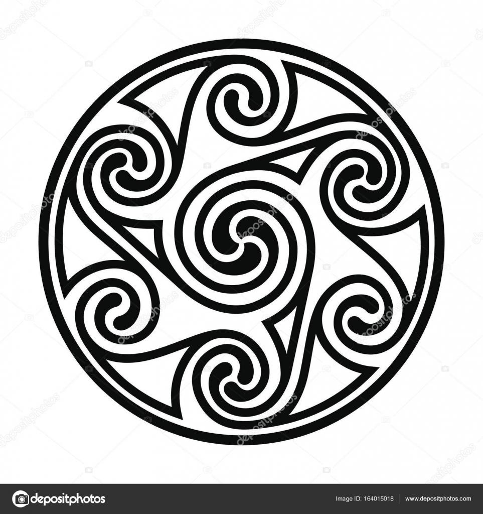 Dessin Celtique dessin national celtique — image vectorielle migfoto © #164015018