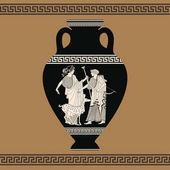 Fotografie Vector Greek vase.