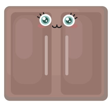 Happy cupboard, illustration, vector on white background.