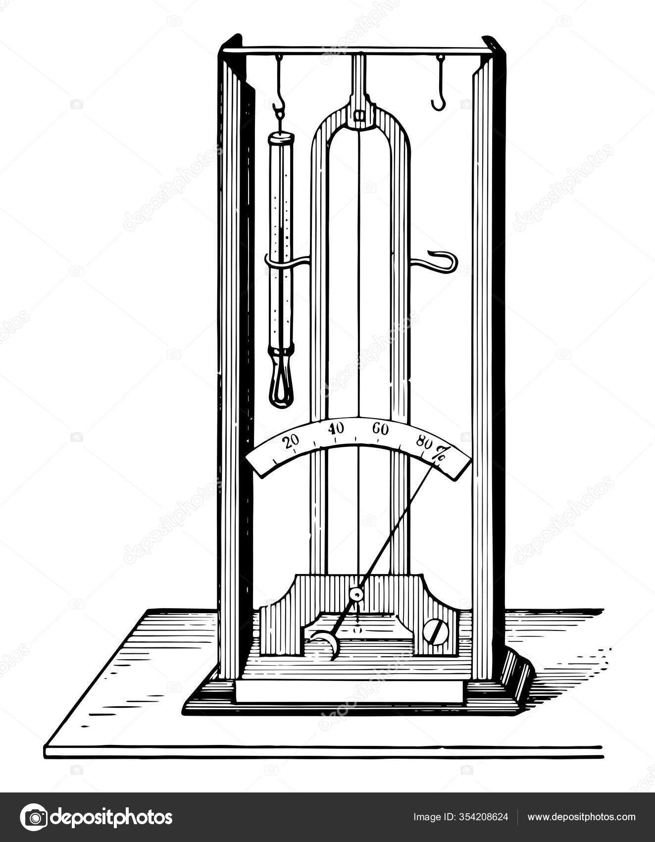 Diagrama Higr U00f3metro Capilar Dibujo L U00ednea Vintage