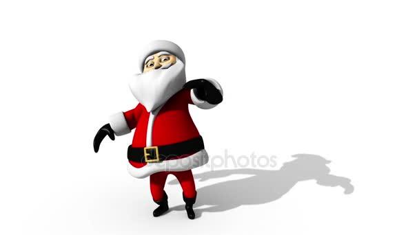 Babbo Natale danzante isolata