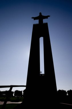Silhouette of National Shrine of Christ-King at Almada
