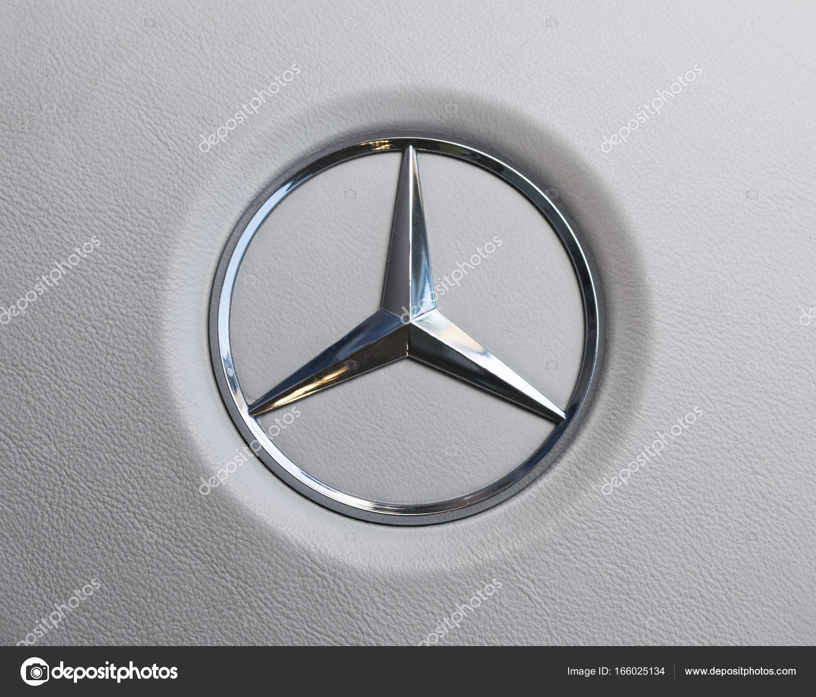 Close up view of a mercedes benz logo on white leather steering imatra finland september 3 2017 close up view of a mercedes benz logo on white leather steering wheel modern car interior details biocorpaavc Image collections