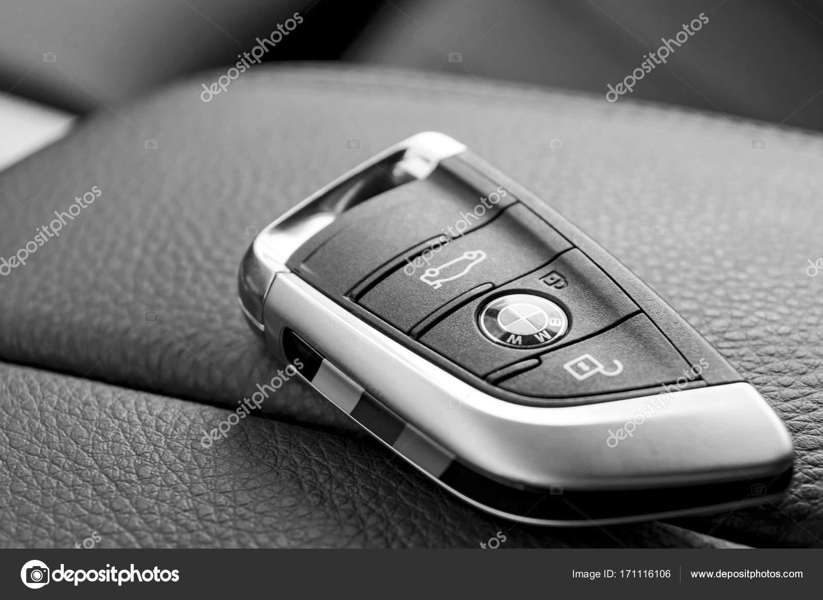 photo bmw interior depositphotos stock of up wireless close keys car leather in black