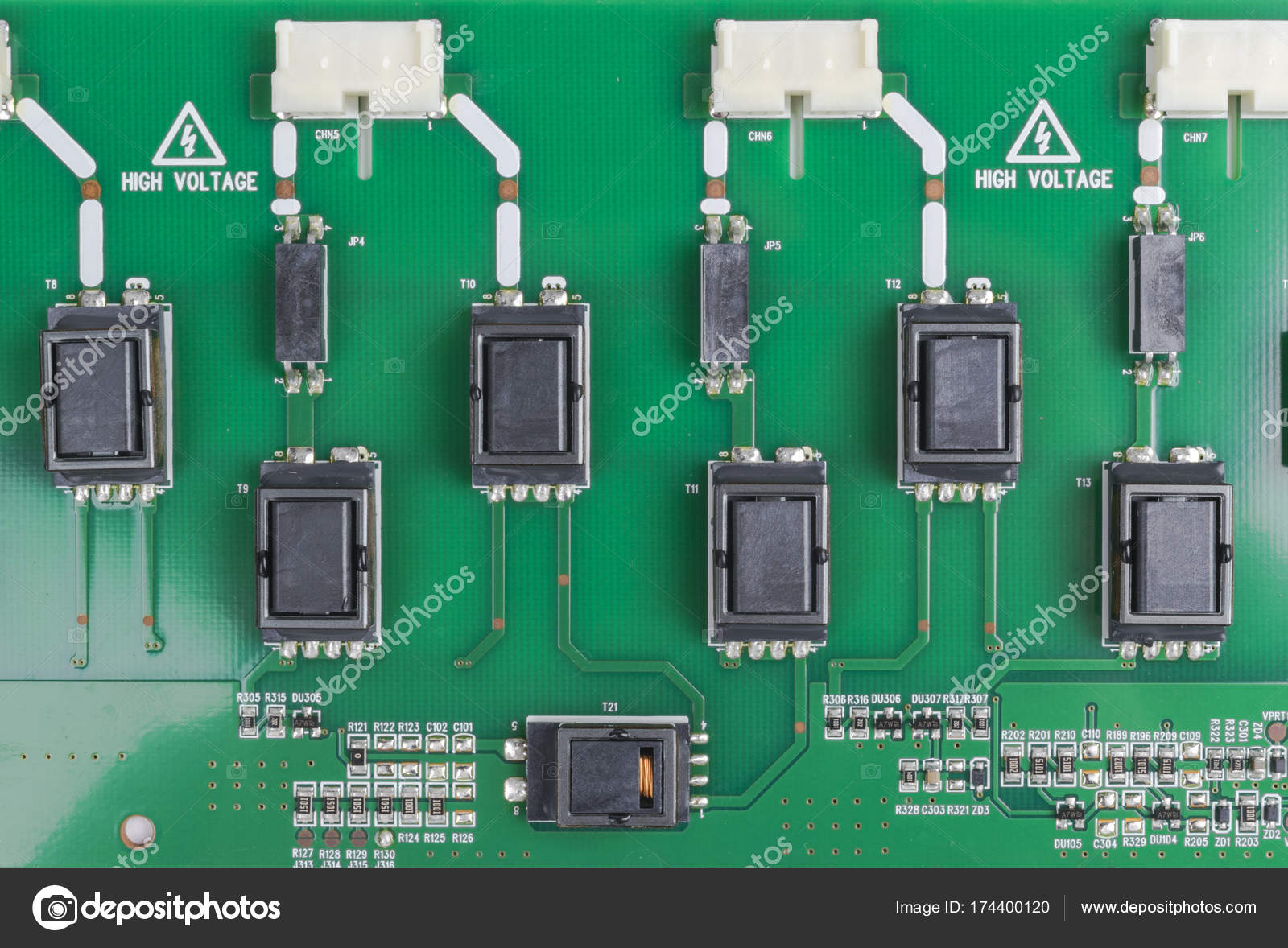 Circuit Board With Resistors Microchips And Electronic Components Computer Hardware Technology Integrated