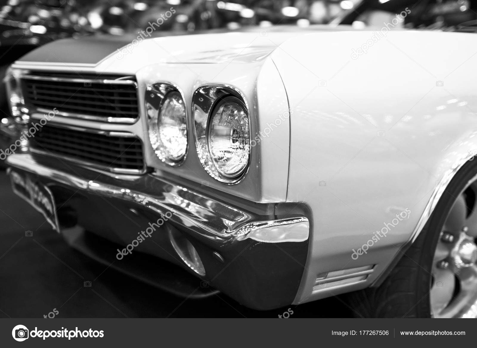 Front View Of A Great Retro American Muscle Car Chevrolet Camaro Ss