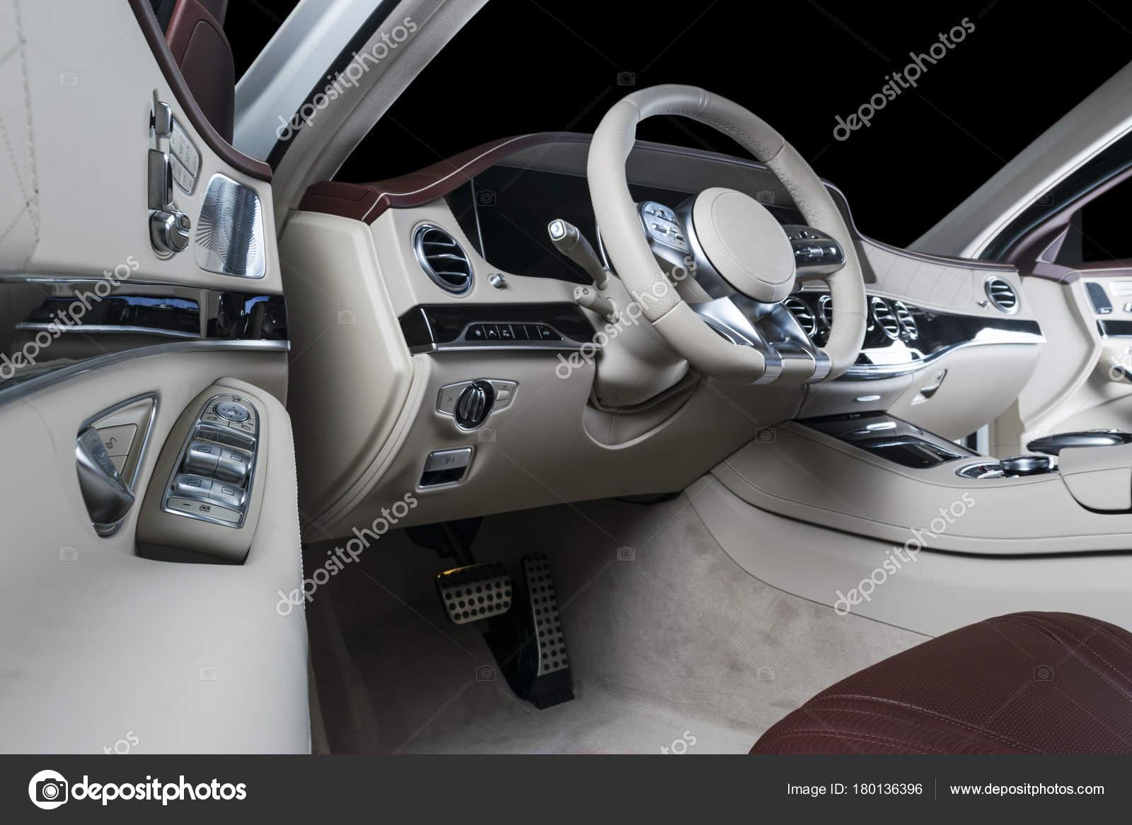 Modern Luxury Car Interior Prestige Modern Car Comfortable Leather