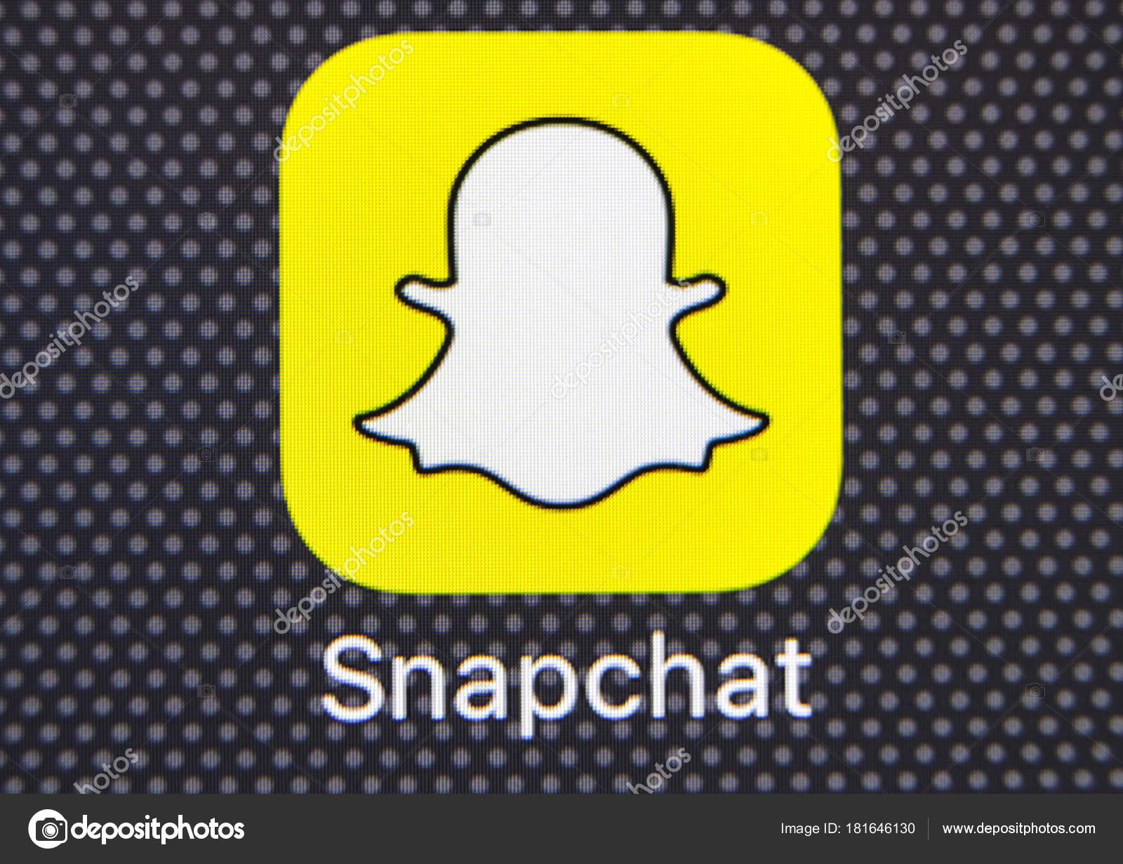 Snapchat application icon on apple iphone 8 smartphone screen snapchat application icon on apple iphone 8 smartphone screen close up snapchat app icon buycottarizona Choice Image