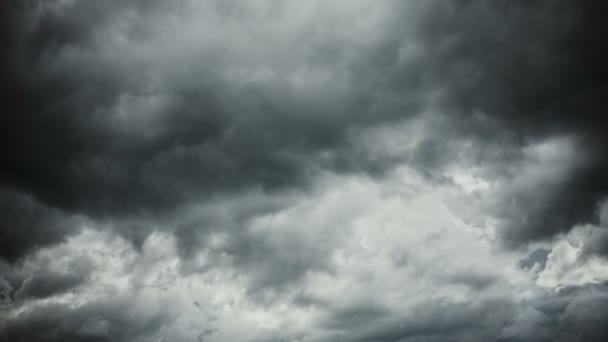 Dramatic sky with dark grey storm clouds