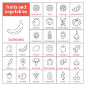 Fotografie Fruits and vegetables icons