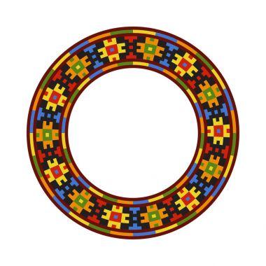 Round traditional Ukrainian ornament