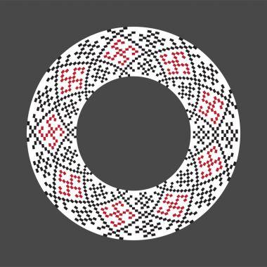 Ukrainian national round pattern, vector